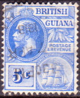 British Guiana 1913 SG #262 5c VF Used Wmk Mult. Crown CA - Guyana Britannica (...-1966)