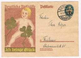 1/2. Entier Allemand. Berlin 1.2.29. (j´apporte La Chance) Treffle à 4 Feuilles. - Giochi
