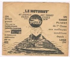1/2. Enveloppe Chèques Postaux. Bordeaux 27.2.37. Illustré Le Motorist. Canoë Pliant Camping. - Kanu