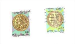 76558) 8º Centenario Della Evangelizzazione Della Lettonia Serie Completa  Usata 2 Valori - Vaticano (Ciudad Del)