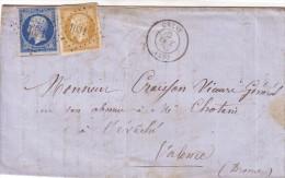 DROME - CREST - EMPIRE N°13+14 OBLITERATION PC1031 - LE OCTOBRE 1857 - AFFRANCHISSEMENT A 30c. - Marcophilie (Lettres)