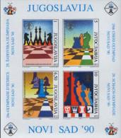 YUGOSLAVIA 1990 29th Chess Olympiad In Novi Sad Serbia Souvenir Sheet MNH - 1945-1992 Socialist Federal Republic Of Yugoslavia