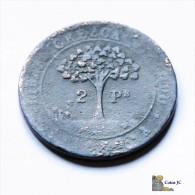 Honduras - 2 Pesos - 1862 - Rare - Honduras