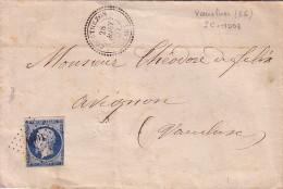 VAUCLUSE - COURTHEZON T22 - N°14 OBLITERATION PC1003 - LE 28-8-1857 - SANS TEXTE - COTE 100€. - Postmark Collection (Covers)