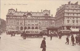 PARIS VIII°  GARE Saint LAZARE  Cour De ROME Rue St Lazare Animation AUTOBUS HOTEL Terminus - Arrondissement: 08