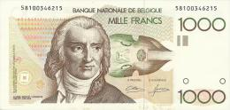 BELGIUM 1000 FRANCS 1980/1996 PICK 144a AU/UNC - [ 6] Treasury
