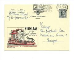 Publibel Obl. N° 1570 ( St-Niklaas 01/08 Zomercavalcade, éléphants, Tigre) Obl: 1958 - Entiers Postaux