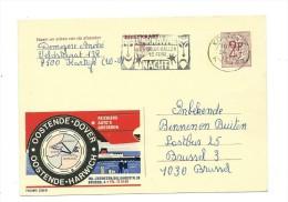 Publibel Obl. N° 2298 ( Oostende-Dover) Obl:  Kortrijk 1972 + Belle Flamme Carnaval; Masque - Interi Postali