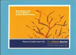 LUFTHANSA - ADVERTISING - Promoção De Outono 2002 - 2 Scans - Aviation