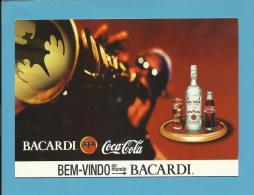 BACARDI E COCA COLA - Bem-Vindo Ao Mundo BACARDI - ADVERTISING - From PORTUGAL- 2 Scans - Postcards