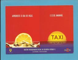 MARTINI E FERRARRI - 2006 - Patrocinador Oficial Da Scuderia F1 - ADVERTISING - From PORTUGAL - Ed. Publicards N.º - Alcools