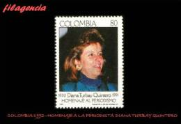 AMERICA. COLOMBIA MINT. 1992 HOMENAJE A LA PERIODISTA DIANA TURBAY QUINTERO - Colombia