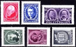 POLAND 1951 Congress Fi 556-561 Mint Never Hinged - Ungebraucht