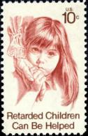 1974 USA Retarded Children Stamp Sc#1549 Disabled Kid Hand - Handicaps