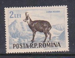 Romania 1956 Animals, 2L Chamois, Mint Hinged - 1948-.... Republics