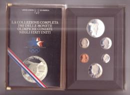 U.S.A.-Monete Olimpiadi 1983 Fondo Specchio-Proof-Rara Zecca Di S. Francisco-6 Valori In Cofanetto - Monete