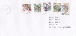 Italy 1998 Castles 100L, 250L, 550L, 1000L, Ambronio 1000L, Cover Sent To Australia - 6. 1946-.. Republic
