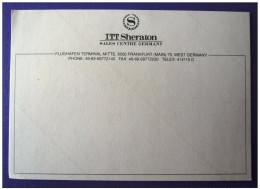 HOTEL MOTEL MOTOR INN PENSION SHERATON ITT STARWOOD GERMANY LUGGAGE LABEL ETIQUETTE AUFKLEBER DECAL STICKER - Hotel Labels