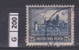 GERMANIA, 1930, Castelli, 25 Pf - Gebruikt