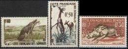 COSTA DEI SOMALI 1958 - Animals   Mi. 314/16 Serie Cpl. 3v.  Nuovi** Perfetti - Gibuti (1977-...)