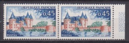 FRANCE / 1961 / Y&T N° 1313 ** (2 TP En Paire) : Sully-sur-Loire - Gomme D´origine Intacte - Ungebraucht