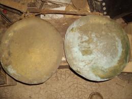 2 PLATEAU EN CUIVRE DE BALANCE ROBERVAL - Cuivres