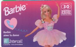 Prépayée Intercall Barbie Aime La Danse 30 Unités TTB 31/12/1998 - Prepaid-Telefonkarten: Andere