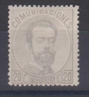 02015 España Edifil 123 (*) Catalogo 198,- € - 1872-73 Regno: Amedeo I