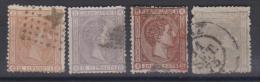 02023 España EDIFIL 162 / 163  / 167 / 168  O Catalago 137,-€ - 1875-1882 Reino: Alfonso XII