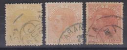 02028 España EDIFIL 210 O En 3 Colores - 1875-1882 Kingdom: Alphonse XII