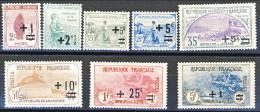 Francia 1922 Pro Orfani Di Guerra Y&T Serie N. 162-169 MLH - Neufs