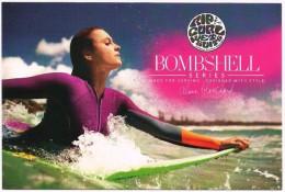 CPM Publicitaire RIP CURL WETSUITS BOMBSHELL Series Alana Blanchard Combinaison Femme Glisse Surf Windsurf Planche WWCT - Autres