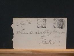 49/397       ENVELOPPE  1904    STEMPEL NA POST TIJD  SOERABAJA - Niederländisch-Indien
