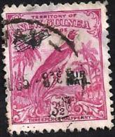 PAPUA NEW GUINEA 3&1/2 PENCE RED BIRD OF PARADISE O/P AIRPLANE 10 YEARS AIR 1932 UHD SG187 HEAVY PREAD DESCRIPTION !! !! - Papua New Guinea