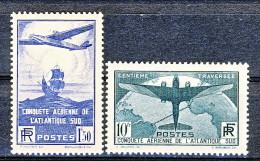 Francia 1936 Traversata Aerea Atlantico Sud  Y&T Serie 320-321 MLH, LUX - Ungebraucht