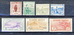 Francia 1917-18 Pro Orfani Di Guerra Serietta Y&T N. 148 - 154 MNH LUX Firmati Biondi Certificato A Richiesta - Unused Stamps
