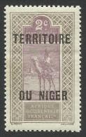 Niger, 2 C. 1921, Scott # 2, MH - Niger (1921-1944)