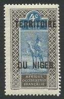 Niger, 4 C. 1921, Scott # 3, MH - Niger (1921-1944)