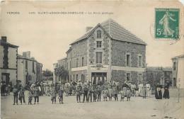 85 SAINT AUBIN DES ORMEAUX  La Place Publique   2 Scans - Non Classificati