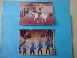 Lot De 2 Cp (semi-moderne) Des Années 1970  Lucky Luke Et Ses Compagnons - Cinema