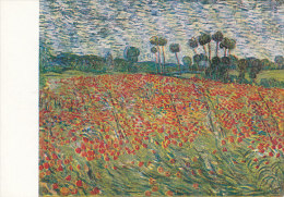 DG030 - VINCENT VAN GOGH - FIELD WITH POPPIES - UNWRITTEN - IMPRESSIONISM - Paintings