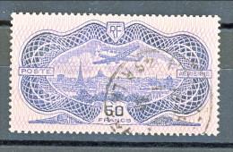 Francia PA 1936 Aereo Su Parigi Y&T N. 15 Fr 50 Oltremare, Incisione Rovesciata(burelage Renversé) Certificato Caffaz - Posta Aerea