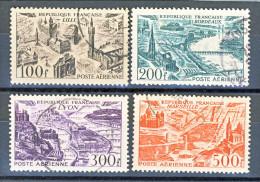 Francia PA 1949 Vedute Delle Grandi Città Y&T Serie N. 24 - 27 Usati - Posta Aerea