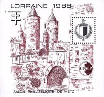 CNEP N°   9 De 1988 Bloc Lorraine - Salon Philatélique De Metz - Défauts Dans La Gomme - CNEP