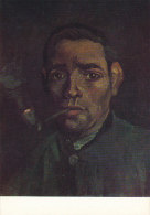 DG064 - VINCENT VAN GOGH - YOUNG MAN WITH PIPE - UNWRITTEN - IMPRESSIONISM - Paintings
