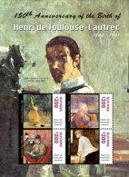 Guyana-2014-Art-Painting- 175TH BIRTH ANNIVERSARY-Toulouse Lautrec - Guiana (1966-...)