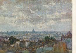DG067 - VINCENT VAN GOGH - VIEW ON PARIS - UNWRITTEN - IMPRESSIONISM - Paintings