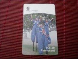 Antigua & Barbuda Phonecard With Chip Used 2 Scans Rare - Antigua And Barbuda