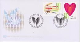 United Nations FDC Mi 766-767 - Hand - Heart - Cancellation Vienna - 2013 - FDC