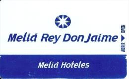 HOTEL MELIA REY DON JAIME, Solmelia.com En Reverso, Llave Clef Key Keycard Karte - Hotel Labels